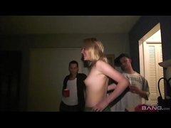 betrunken college studentin sex party